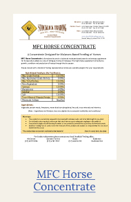mfc horse concentrate