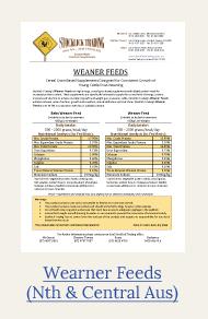 weaner feeds